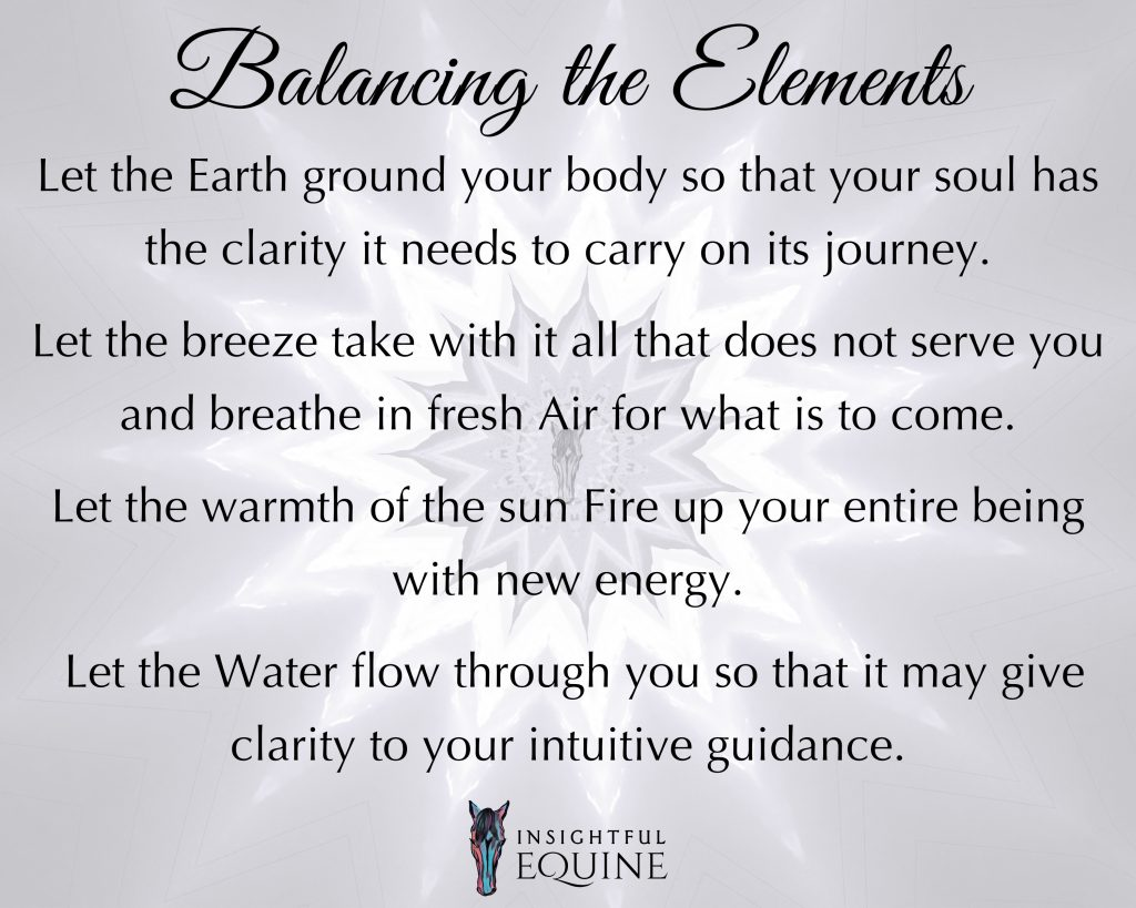 Nature gives us everything we need to stay balanced by using the earths elements