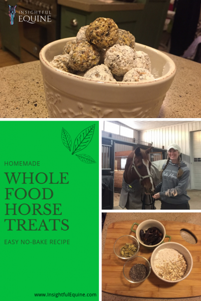 Insightful Equine is showing you how to make whole food horse treats the lazy way. Check out this no-bake treat recipe that's made with simple ingredients and takes less than ten minutes to make.