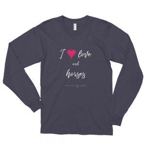 Love Horses Long sleeve t-shirt (unisex)