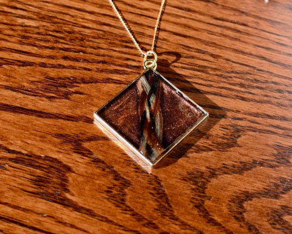 Custom made horse hair pendant necklace by Insightful Equine