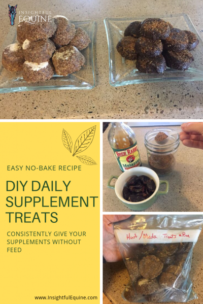 Getting horses to eat supplements can be tricky especially with picky eaters and easy keepers. This supplement treat recipe works with your current supplements and makes it easy for your horse to get the full dose every day.